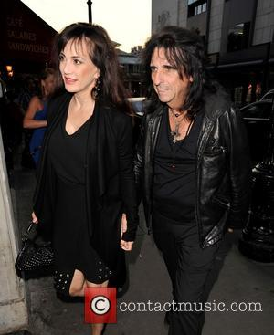 Alice Cooper and Sheryl Cooper - Alice Cooper and wife Sheryl out for dinner at Balthazar restaurant in Covent Garden...