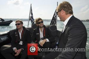 Douglas Booth and Sam Reid - Images showing the actors Douglas Booth and Sam Reid. - Cowes, Isle of Wight...