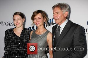 Georgia Ford, Calista Flockhart and Harrison Ford