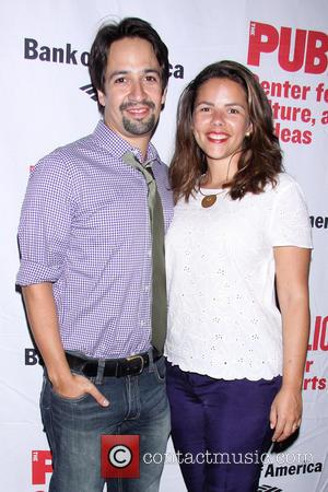 Lin-Manuel Miranda and Vanessa Nadal - Opening night of Love's Labour's Lost at the Delacorte Theater-Arrivals. - New York, NY,...