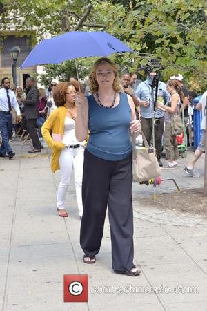 Cybill Shepherd - Filming on location of TV show Law and Order outside the Supreme Court - Manhattan, NY, United...