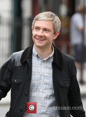 Martin Freeman - 'Sherlock' Season 3 film set