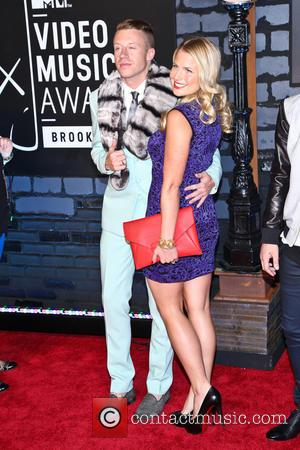 Macklemore and Tricia Davis - 2013 MTV Music Awards held at the Barclays Center - Arrivals - New York, NY,...