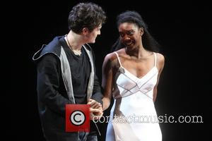 Orlando Bloom and Condola Rashad - Curtain call for First Preview of Broadway's Romeo and Juliet at the Richard Rodgers...