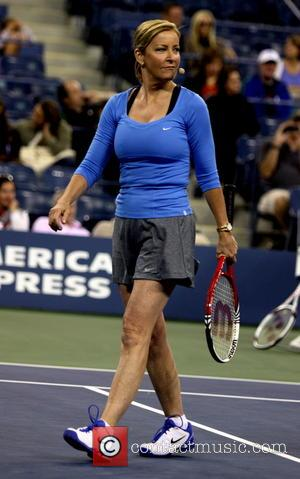 Chris Everett - Rain Wilson and Jason Biggs take on Tennis legends Chris Everett and Monica Seles at the 2013...