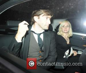 David Tennant - David Tennant leaves the Dorchester Hotel with his wife Georgia Moffett after the attending the TV Choice...