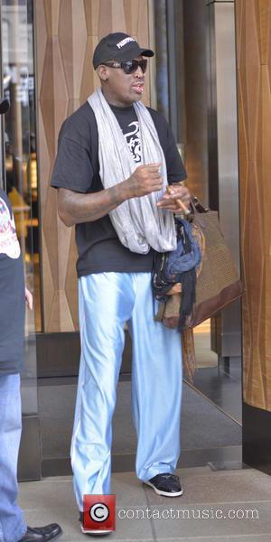 Dennis Rodman - Dennis Rodman back in New York City