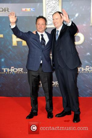 Louis D'esposito and Kevin Feige