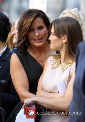 Mariska Hargitay and Hillary Swank - Mariska Hargitay Honored On The Hollywood Walk Of Fame - Hollywood, California, United States...