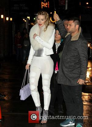Iggy Azalea - Celebrities outside The Ed Sullivan Theater for the Late Show with David Letterman - New York City,...
