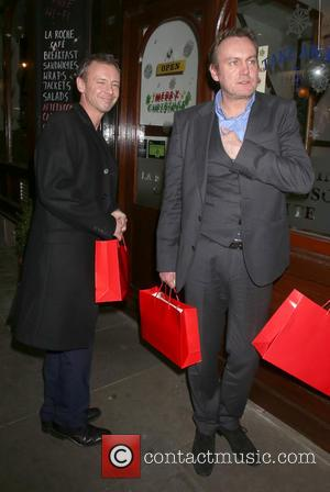 John Simm and Philip Glenister - The Nutcracker held at the London Coliseum - Departues - London, United Kingdom -...