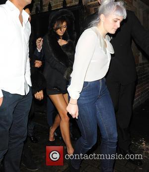 Nicole Scherzinger - Nicole Scherzinger wrapped up warm in a black faux fur lined coat, leaves Tonteria. As she headed...