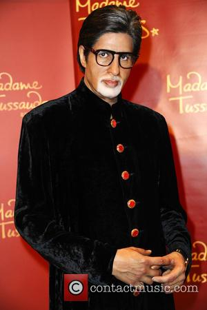 Amitabh Bachchan - Unveiling of five wax figures of the greatest stars of Bollywood at the Embassy of India -...
