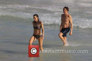 Paul McCartney and Nancy Shevell - Paul McCartney and wife Nancy Shevell enjoying their holiday at Salines Beach in Saint...