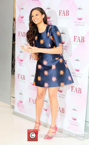 Alesha Dixon - Alesha Dixon attends a photocall to launch her new fragrance 'Rose Quartz' at St Martin's Lane Hotel...