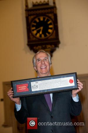Henry Winkler - Henry Winkler receives the Freedom of the City of London - photocall held at the Guildhall. -...