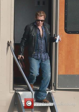 Johnny Depp - A clean shaven Johnny Depp shows a bit of paunch while leaving his trailer on the set...