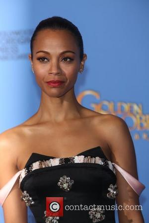 Zoe Saldana - 71st Annual Golden Globes - Press Room - London, United Kingdom - Sunday 12th January 2014