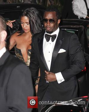 Cassie Ventura, Cassie and Sean Combs - 71st Annual Golden Globe Awards afterparty held at Sunset Towers - Outside Arrivals...