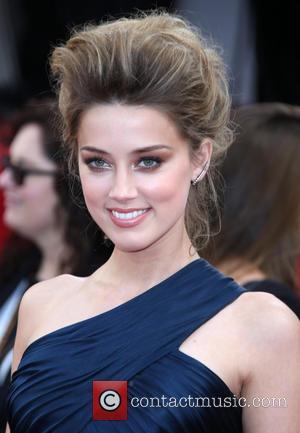 Amber Heard - 71st Annual Golden Globes