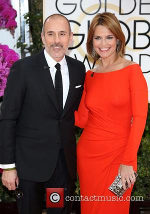 Matt Lauer and Savannah Guthrie - 71st Annual Golden Globe Awards held at The Beverly Hilton Hotel  - Red...