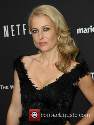 Gillian Anderson - The Weinstein Company & Netflix 2014 Golden Globes After Party at The Old Trader Vic's at the...