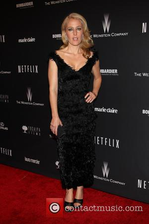 Gillian Anderson - The 71st Annual Golden Globe Awards - Weinstein Party  at The Beverly Hilton Hotel - Los...