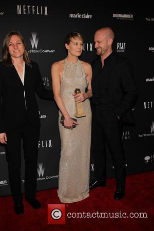 Robin Wright and Ben Foster - The 71st Annual Golden Globe Awards - Weinstein Party  at The Beverly Hilton...