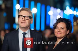 Kenneth Branagh and Guest - 'Jack Ryan: Shadow Recruit' European Premiere held at the Vue Leicester Square - Arrivals. -...