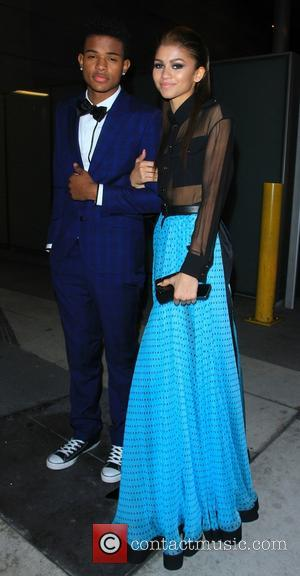 Zendaya Coleman and Trevor Jackson - The 56th Annual GRAMMY Awards held at the Staples Center - Outside Arrivals -...