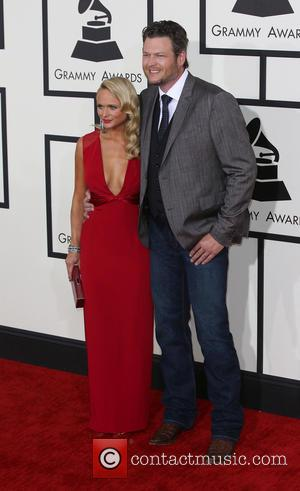 Miranda Lambert and Blake Sheldon - The 56th Annual GRAMMY Awards held at the Staples Center - Arrivals - Los...