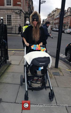 Katie Price - Katie Price and her friend Louise Glover take her baby son Jet Riviera to  Freedom Health...