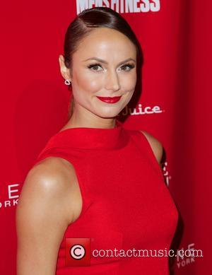 Stacy Keibler - SHAPE and Men's Fitness Super Bowl party