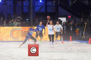 Meghan Markle and Nina Dobrev - DirecTV's 8th Annual Celebrity Beach Bowl held at Pier 40 - Football Game -...