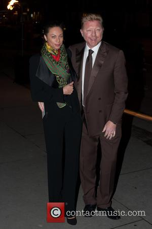 Boris Becker and Lilly Becker - British Asian Trust - party held at the Victoria and Albert Museum - Arrivals....