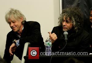 Bob Geldof and Wayne Coyne - CBGB Festival Presents Amnesty International Concert at Barclay Center Press Conference - New York,...