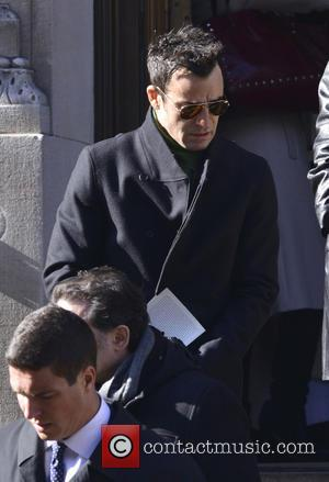 Justin Theroux - The funeral of actor Philip Seymour Hoffman held at Church of St. Ignatius Loyola in Manhattan. Hoffman...