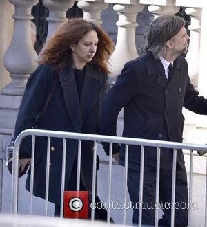 Maya Rudolph and Paul Thomas Anderson - The funeral of actor Philip Seymour Hoffman held at Church of St. Ignatius...