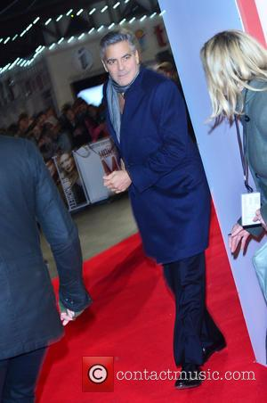 GEORGE CLOONEY - UK Film Premiere of 'The Monuments Men' held at the Odeon Leicester Square - Arrivals - London,...