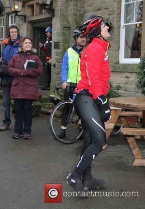 Davina McCall - BT Sport Relief Challenge: Davina - Beyond Breaking Point - Day 5. Davina leaves The Rambler Inn...