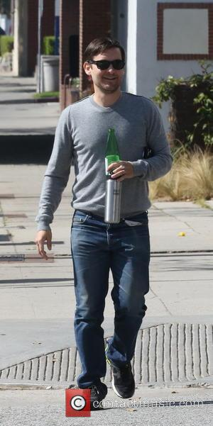 Tobey Maguire - Tobey Maguire out and about in Brentwood with a friend - Los Angeles, California, United States -...