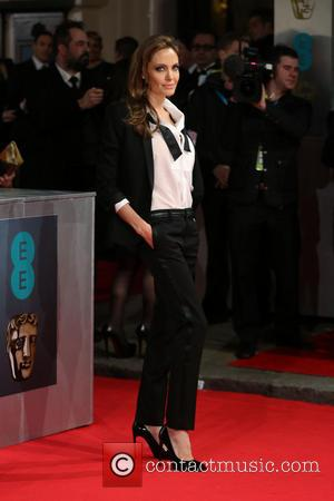 Angelina Jolie - British Academy Film Awards (BAFTA) 2014 held at the Royal Opera House - Arrivals - London, United...