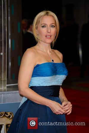 Gillian Anderson - EE British Academy Film Awards (BAFTA) 2014 held at the Royal Opera House - Arrivals - London,...