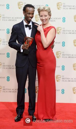 Emma Thompson and Bharkad Abdi - EE British Academy Film Awards (BAFTA) 2014 held at the Royal Opera House -...