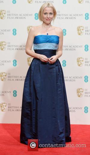 Gillian Anderson - EE British Academy Film Awards (BAFTA) 2014 held at the Royal Opera House - Pressroom - London,...