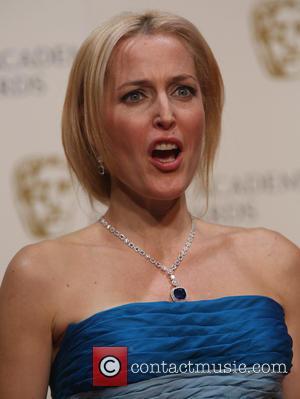 Gillian Anderson - British Academy Film Awards (BAFTA) 2014 held at the Royal Opera House - Press Room - London,...