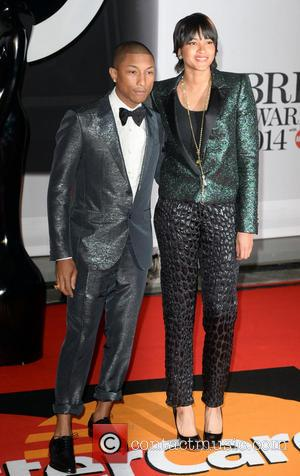 Pharrell Williams - The Brit Awards (Brit's) 2014 held at the O2 - Arrivals - London, United Kingdom - Wednesday...