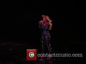 Beyonce - Beyonce performing live in concert during the first night of her UK tour at the Hydro in Glasgow...