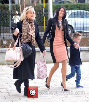 Miriam Ahern, Georgina Byrne and Twins Jay & Rocco Byrne - The Christening of Nicky Byrne's daughter Gia at Saint...