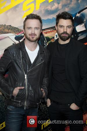 Aaron Paul and Dominic Cooper - VIP film screening of 'Need for Speed' - Arrivals - London, United Kingdom -...